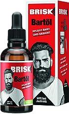 BRISK Bart-Öl – Bartpflegemittel für einen weichen Bart – 2er Pack (2 x 50 ml)