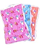 Fareto Newborn Baby Lacy Muslin Godari, Cradle Bed, Baby Bed (Multicolored)(0-6 Months) (Pack of 2)