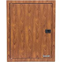 Smrish Utility DB MCB DP Metal Enclosure Sheet Steel 24 Pole Change Over Box with Special Design Front Type Distribution Board Cutout (Wood Finish)