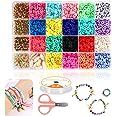 Braleto Polymeer Klei Kralen 18 Kleuren, Platte Ronde Spacer Kralen, Sieraden Maken Tool Kit Voor Accessoires Armbanden Ketti