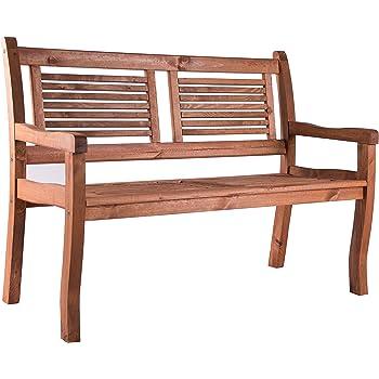 Fantastisch Bomi 2 Sitzer Gartenbank Holz Massiv | Holzbank Mit Lehne Kirschbaum  Wetterfest 120cm | Sitzbank Garten