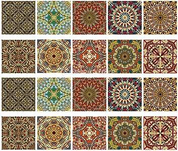 20pcs Waterproof Kitchen Tile Sticker Bathroom Floor Tile Decal #2 20x20cm