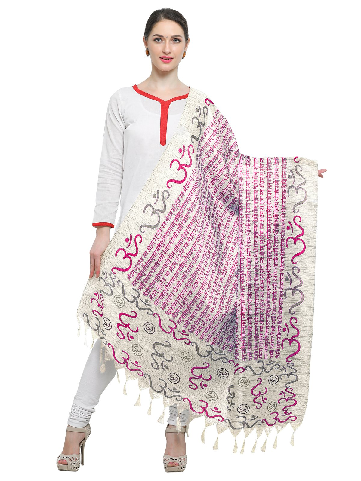 Kanchnar Women's Trditional Printed Art Silk Dupatta