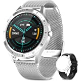 AIMIUVEI Smartwatch, Orologio Fitness Donna Uomo Cardiofrequnzimetro da Polso Contapassi e Calorie Impermeabile IP67 Cronomet