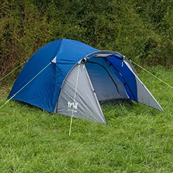 Trail 2 Man Dome Tent With Large Porch C&ing Festival Waterproof 3000mm HH Amazon.co.uk Kitchen u0026 Home & Trail 2 Man Dome Tent With Large Porch Camping Festival Waterproof ...