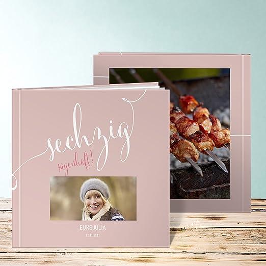 Außergewöhnlich Fotobuch 60 Geburtstag, Sagenhafte Sechzig 60 Seiten, Hardcover 290x222 Mm  Personalisierbar, Grau: Amazon.de: Küche U0026 Haushalt