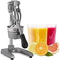 Relaxdays Presse-fruits manuel avec levier, presse orange, presse citron professionnel qualité gastronomie, argenté