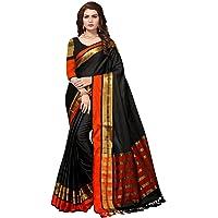 SAREE MALL Women's Cotton Silk Saree with blouse piece (8AURA8001-parent)
