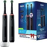 Oral-B PRO 3 3900 Elektrische tandenborstel/elektrische tandenborstel, dubbelverpakking, met 3 poetsmodi en visuele 360° druk