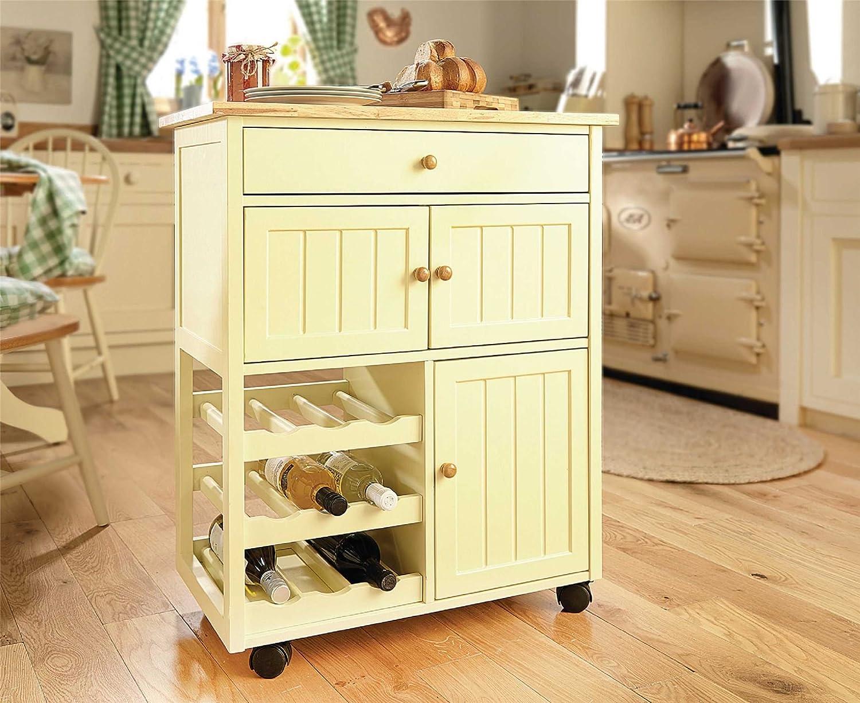 winchcombe kitchen trolley storage island cart rack worktop wooden