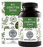 NATURE LOVE® Bio Gerstengras - Hochdosiert mit 1500mg je Tagesdosis - 180 Kapseln - Laborgeprüft und zertifiziert Bio…