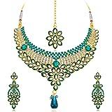 Sukkhi Delightful Gold Plated Wedding Jewellery Kundan Choker Necklace Set For Women (N71695ADAP600)