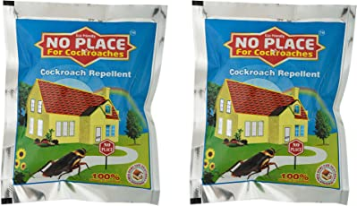 Maa Home Care Solutions No Place for Cockroaches Repellent, 250g, 15.24x10.16x13cm (Black, MHCS029)-Pack of 2
