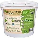 l'herbe Haute ® Terre de Diatomée Blanche Alimentaire - 5 kg Seau - Utilisable en Agriculture Biologique - Origine Naturelle