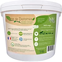 l'herbe Haute ® Terre de Diatomée Blanche Alimentaire - 5 kg Seau - Utilisable en Agriculture Biologique - Origine…
