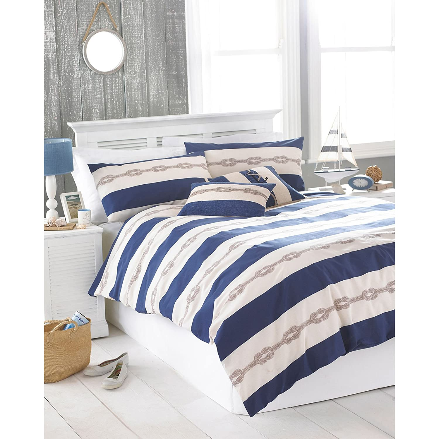 just contempo nautical duvet cover set king red amazoncouk  - just contempo nautical duvet cover set king red amazoncouk kitchen home