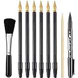 9 pièces Ensemble d'art de stylo à Gratter Outils Scratch Art Peinture Ensemble d'outils Scratch Arts pour Bricolage Art Pein