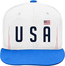 World Cup Soccer United States Mens -Jersey Hook Flag Snapback, Red, One Size