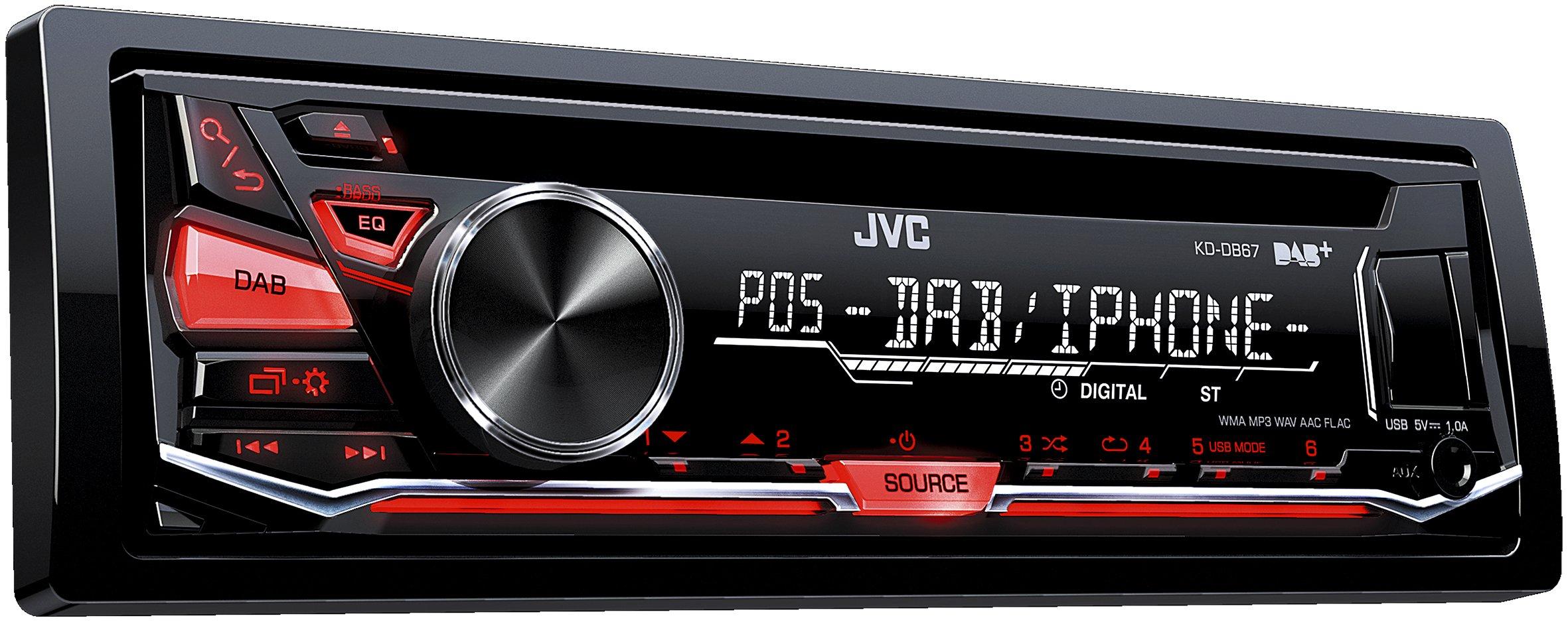 JVC-KD-DB67-USBCD-Receiver-DAB-Front-AUX-schwarz