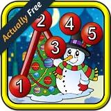 Kinder Weihnachten verbinden die Punkte Puzzles - von Punkt zu Punkt-Lernspiel für Vorschulkinder 2 +