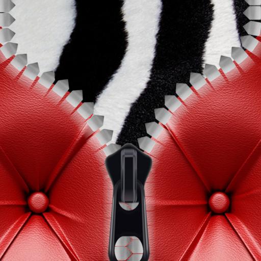Leder Reißverschluss Lock Screen -