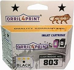 ORRIL4PRINT 803 Black Ink Cartridge use HP Printer 1112/1112/ 1111/2131/ 2132 Printer