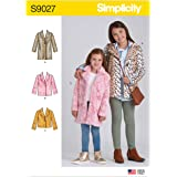 3-4-5-6 Various HH SIMPLICITY Paper Pattern-US9027HH-CHILD//Girl-Jacket//Coat