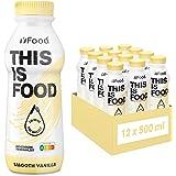 YFood Vanilla | Batido Sustitutivo | Sustitutivo de comida sin lactosa ni gluten | 33g de proteínas, 26 vitaminas y minerales
