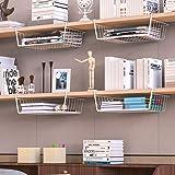 FWQPRA® Hanging Under Shelf Storage Iron Mesh Basket Cupboard Cabinet Door Organizer Rack Closet Holders Storage Basket…