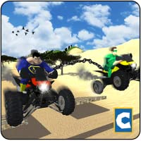 Chained Quad Bike Stunts