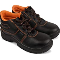 Aktion Safety Synthetic Leather Shoes RA-704 - Size 8, Black