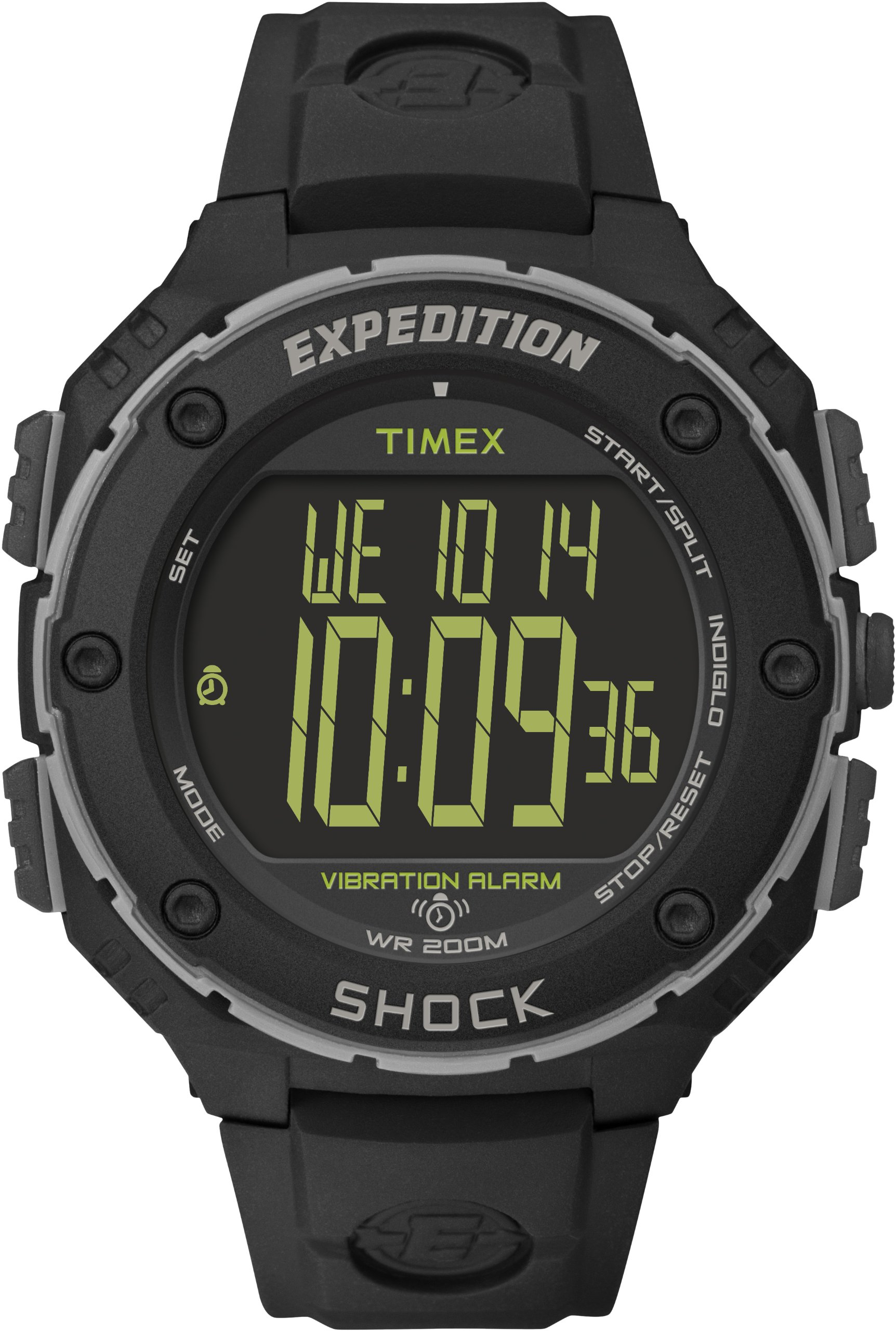 Timex Expedition Men's T49950 Watch with Black Dial Digital Display and Black Resin Strap