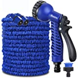 100FT / 150FT / 200FT Magic Stretch Flexible Expandable 3 x Expanding Garden Hose Pipe Natural Triple Layer Light Weight Non