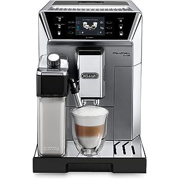 De'Longhi PrimaDonna Class ECAM 556.75.MS – Kaffeevollautomat mit integriertem Milchsystem, 3,5'' TFT Touchscreen & App-Steuerung, automatische Reinigung, 36,1 x 26 x 46,9 cm, silber/chrome
