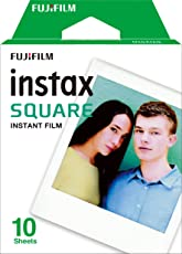 Fujifilm Instax Square 10 Exposures Instant Film (White)