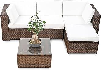 Rattan ecksofa für balkon  Möbelsets | Amazon.de