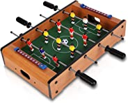 Popsugar Foosball Table Football Game Table Toy (Mid-Size) for Kids,