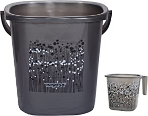 Nayasa Funk 25 Ltr Bucket & Matching Mug - Black