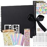 Album Photo, Album de Bricolage 80 Pages Papier d'artisanat d'album Photo, kit d'accessoires d'album Photo créatif à la Main