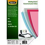 Fellowes Couvertures de reliure PVC transparent A4 en PVC 200 microns - Pack de 100