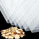 6 Pièces Feuilles de Déshydrateur Carrées en Silicone Tapis de Déshydrateur Antiadhésifs pour Fruits Alimentaires Réutilisabl