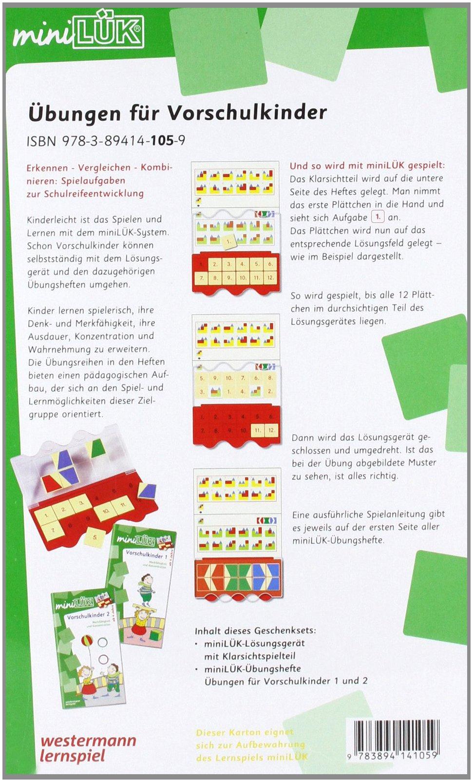 miniLK-Sets-Kasten-bungshefte-miniLK-Set-KindergartenVorschule-bungen-fr-Vorschulkinder
