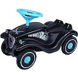 BIG-Bobby-Car Classic Sansibar, Kinderfahrzeug mit Aufklebern für Jungen und Mädchen, belastbar bis zu 50 kg, Rutschfahrzeug für Kinder ab 1 Jahr, schwarz