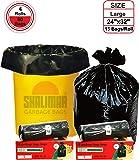 Shalimar Premium OXO Garbage Bags (Large) Size 60 cm x 81 cm 4 Rolls (60 Bags) (Black Colour)