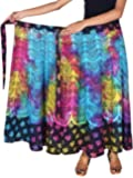 Kanika Fashion Women's Cotton Wrap Around Ankle Length Skirt Jaipuri Latest Print (XXL)