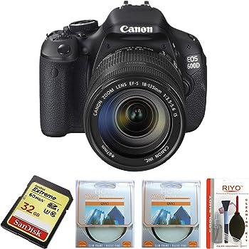 Canon EOS 600D (EF-S 18-55IS II & EF-S 55-250IS II) Combo Kit with SD Card and Camera Bag