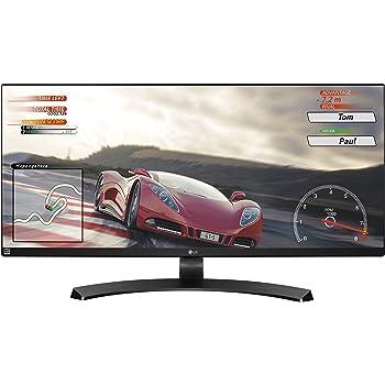 LG 34UM68-P 86,36 cm (34 Zoll) Computer-Monitor (HDMI, DisplayPort, Ultra Wide FHD Auflösung, Fuß abnehmbar) schwarz