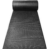 100x100cm r/ésistant tapis noir pastill/é antid/érapant Rev/êtement de sol etm/® tapis caoutchouc int/érieur ou ext/érieur isolant nombreux mod/èles et tailles