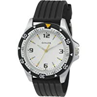 Sonata Super Fibre Analog Black Small Dial Men's Watch NL7930PP01 / NL7930PP01
