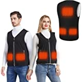 MIBABO Chaqueta Calefactable Hombre, Chaleco Calefactable Mujer Chaleco Termico Electrico Ropa Calefactable Forro Polar Lavab